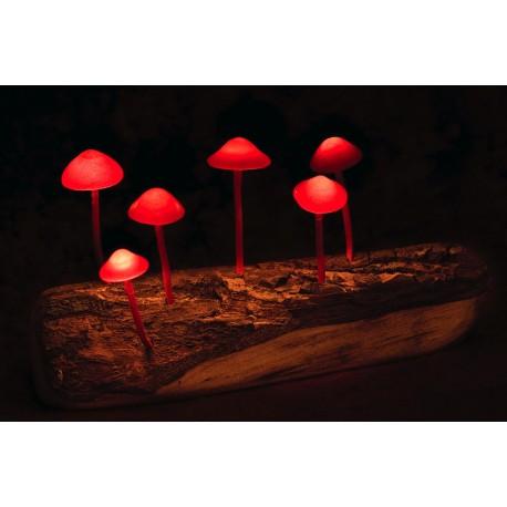 Psychodelická lampička (červená)